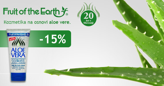 Fruit of the Earth - kozmetika na osnovi aloe vere vam je na voljo 15% ugodneje. - Slika 1