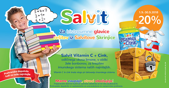 Salvit bonboni z Vitaminom C in cinkom so vam na voljo 20% ugodneje.