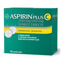 Aspirin plus C 400 mg/240 mg, 40 šumečih tablet