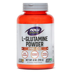 L-glutamin NOW Sports, prah