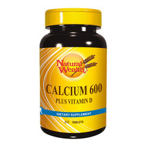 Natural Wealth Kalcij 600 + vitamin D tablete