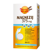 Magnezij 350 mg + B1, B6 in C vitamini, šumeče tablete