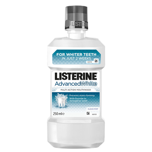 Listerine Advanced White, ustna voda - 250 ml