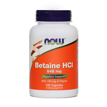 Betaine HCl NOW, kapsule
