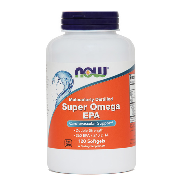 Super Omega-3 EPA NOW, 120 kapsul