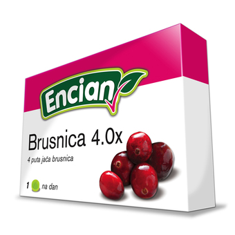 Encian brusnica 4.0x, pastile