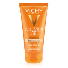 Vichy Ideal Soleil BB Dry Touch, obarvani fluid za obraz - ZF 50 (50 ml)