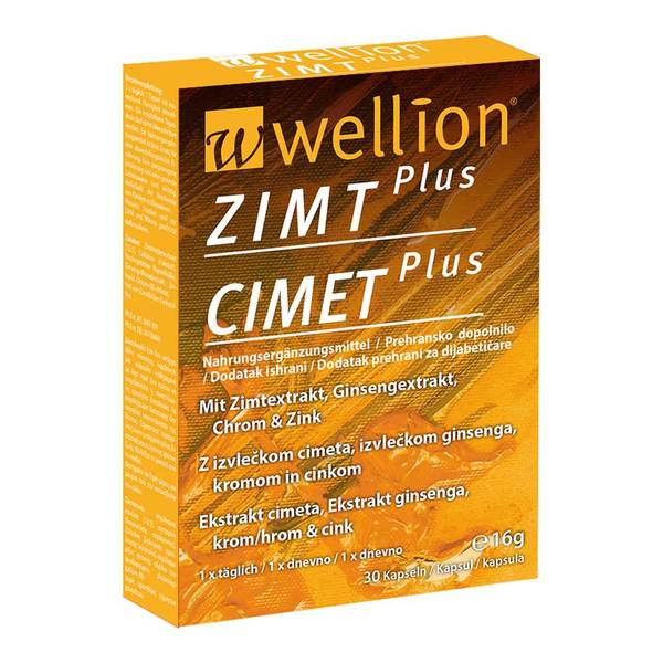 Wellion Zimt Plus, 30 kapsul