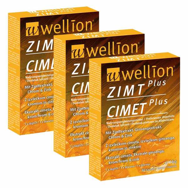 Wellion Zimt Plus, 3 x 30 kapsul