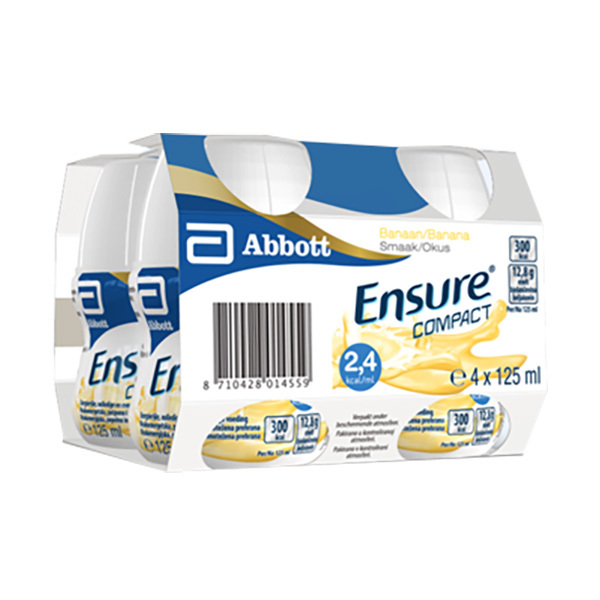 Ensure Compact, banana (4 x 125 ml)