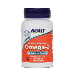 Omega-3 1000 mg NOW, 30 mehkih kapsul