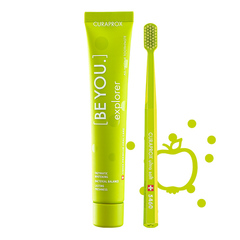 Curaprox [BE YOU.] Explorer set, jabolko in aloe vera - belilna zobna pasta