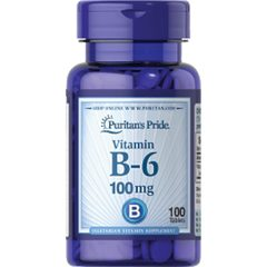 Puritan's Pride Vitamin B-6 100 mg, 100 tablet