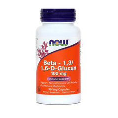 Beta Glukan 100 mg NOW, 90 kapsul