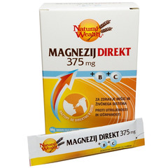 Natural Wealth Magnezij Direkt 375 mg, vrečke (20 vrečk)