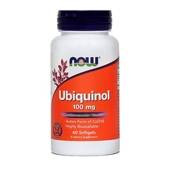 Ubiquinol 100 mg NOW, kapsule (60 kapsul)