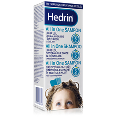 Hedrin All in One, šampon za odstranjevanje uši in gnid (200 ml + glavnik)