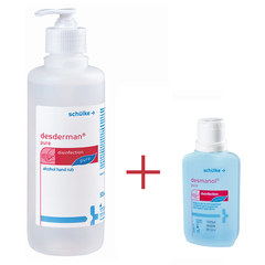 Desderman pure s pumpico, paket (500 ml + 100 ml)
