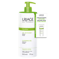 Uriage Hyseac, set (500 ml + 15 ml)