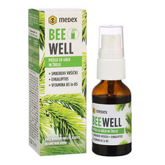Be Well Pršilo za grlo in žrelo - Smrekovi vršički, Medex (20 ml)
