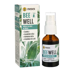 Be Well Pršilo za grlo in žrelo - Žajbelj, Medex (20 ml)