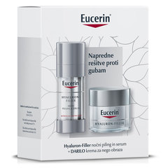 Eucerin Hyaluron-Filler, nočni piling in serum - novoletni set (30 ml + 50 ml)