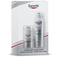 Eucerin Men Silver Shave, novoletni set (75 ml + 150 ml)