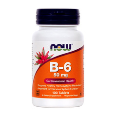 Vitamin B-6 50 mg NOW, tablete (100 tablet)
