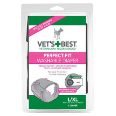 Vet's Best Perfect Fit, pralne plenice za samice L/XL (1 plenica)