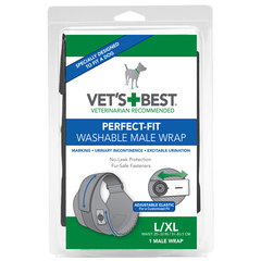 Vet's Best Perfect Fit, pralne plenice za samce L/XL (1 plenica)