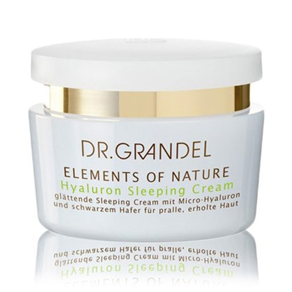Dr. Grandel Elements of Nature Hyaluron Sleeping Cream, nočna krema za napeto, sproščeno kožo (50 ml)