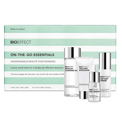 Bioeffect On-The-Go Essentials, potovalni set (30 ml + 10 ml + 5 ml + 5 ml)