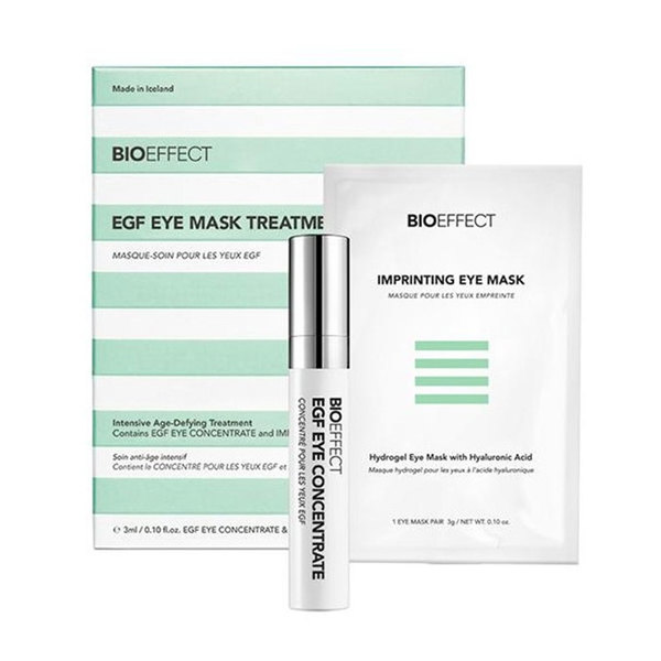 Bioeffect EGF Eye Mask Treatment, intenzivna pomlajevalna nega (3 ml + 8 parov hidrogelne maske)