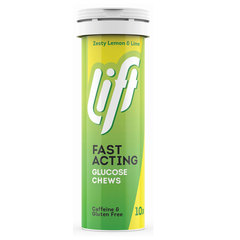 Lift Fast Acting, glukozne tablete - Limona in Limeta (10 x 4 g)