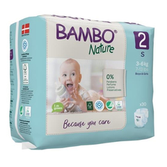 Bambo Nature 2 Mini, otroška plenička 3-6 kg (30 plenic)