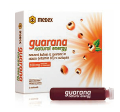 Guarana natural energy, napitek (5 x 9 ml)