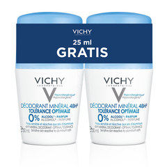 Vichy mineralni dezodorant za optimalno toleranco 48 ur, roll-on- paket (2x50ml)