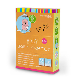 to.to Baby soft krpice, 50 krpic