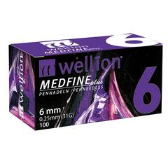Wellion Medfine plus 31G, igla za inzulinska peresa - 6 mm
