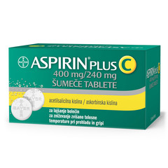 Aspirin plus C 400 mg/240 mg, 20 šumečih tablet