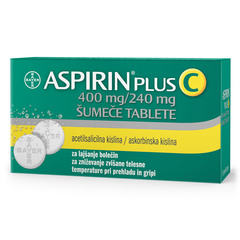 Aspirin plus C 400 mg/240 mg, 10 šumečih tablet