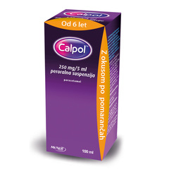 Calpol 250 mg/5 ml, peroralna suspenzija (100 ml)